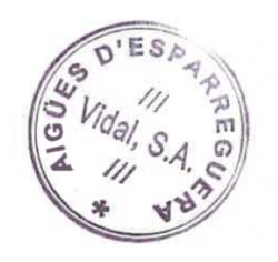 Segell corporatiu aigües d'Esparreguera Vidal S.A
